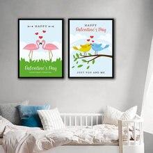 Комиксы птица Лебедь скандинавские плакаты и принты настенная