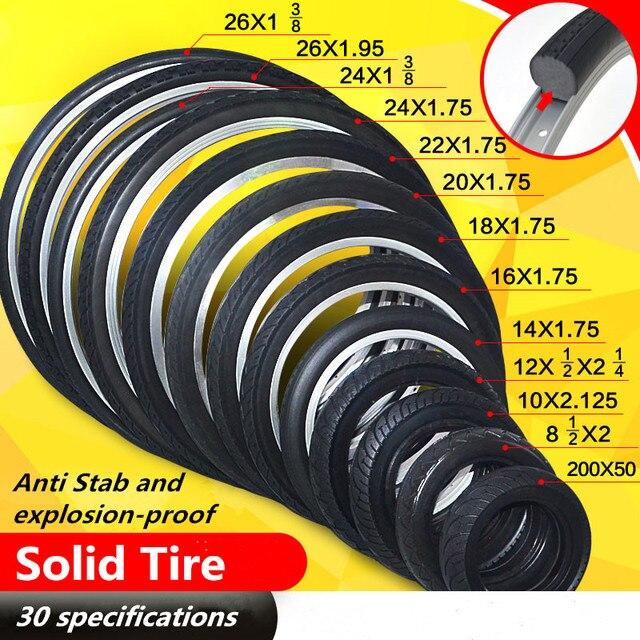 24*1.95 solide vélo pneu équitation vtt vélo TireBike pneu vélo vélo Tubeless pneu