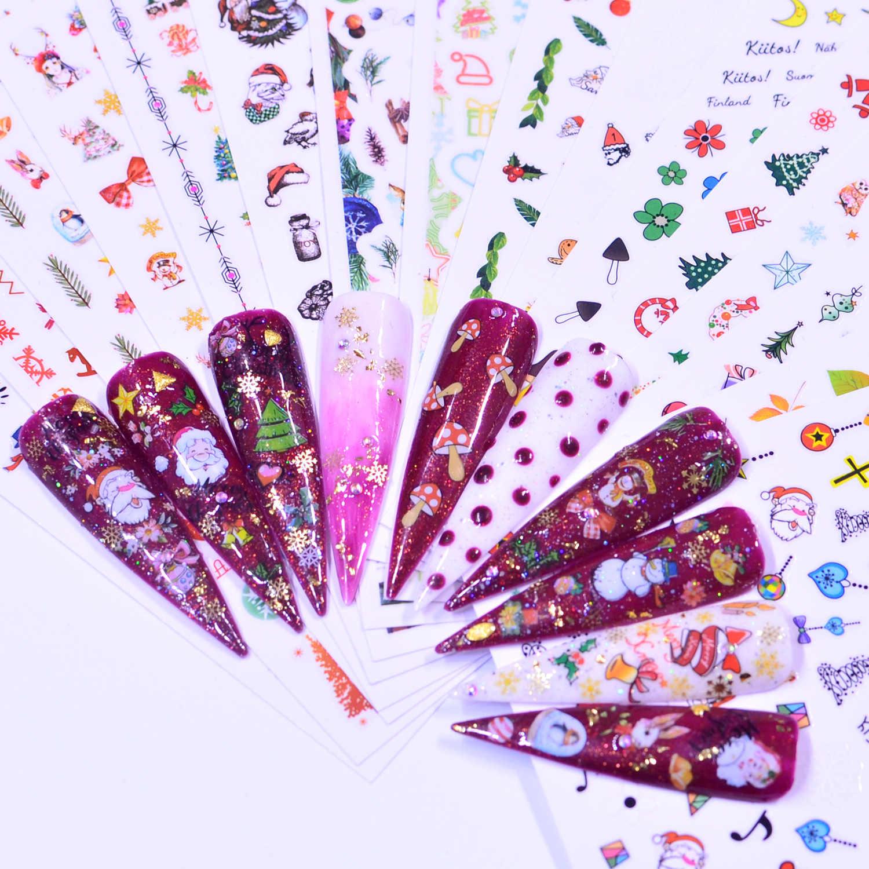 YWK 1 шт Рождество/садовые цветы/Dande цветок Дизайн ногтей Декор обертывания хлопья слайдеры маникюр
