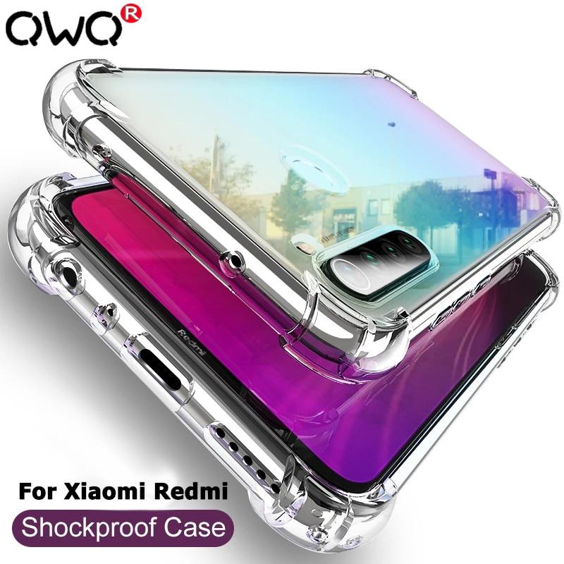 Shockproof Case For Xiaomi Mi Note 10 Lite 8 9 SE 9T 10 Pro Redmi Note 9S 5 6 7 8 9 Pro 7A 8A 9A 8T 10X Silicone TPU Back Cover