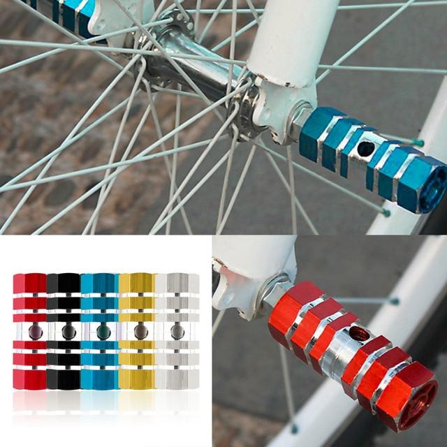 Nowy 1 para kołki ze stopu aluminium rower jazda na rowerze rower tylny podnóżek Stunt sześć osi wysokiej jakości