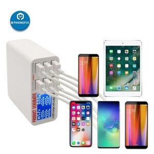 Image 3 - Multiport usb Hub Intelligente Schnelle Ladestation Smart Digital Display 6 Port USB Ladegerät Hub für Smartphone Schnelle Lade
