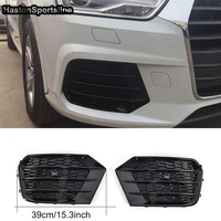 RSQ3 Style Silver Auto Car Front Fog Lamp Grille for Audi Q3 Only 2016~2018