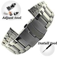 Licht Stahl Uhr Band Für Amazfit Uhr Edelstahl Armband Für Galaxy Uhr 3 Aktive 1 2 20mm 22mm 24mm Universal