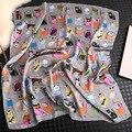高級ブランド 2020 新ファッション夏シルクスクエアスカーフ女性猫 p サテンネックヘアネクタイバンドビーチヒジャーブヘッドスカーフ女性スカーフ