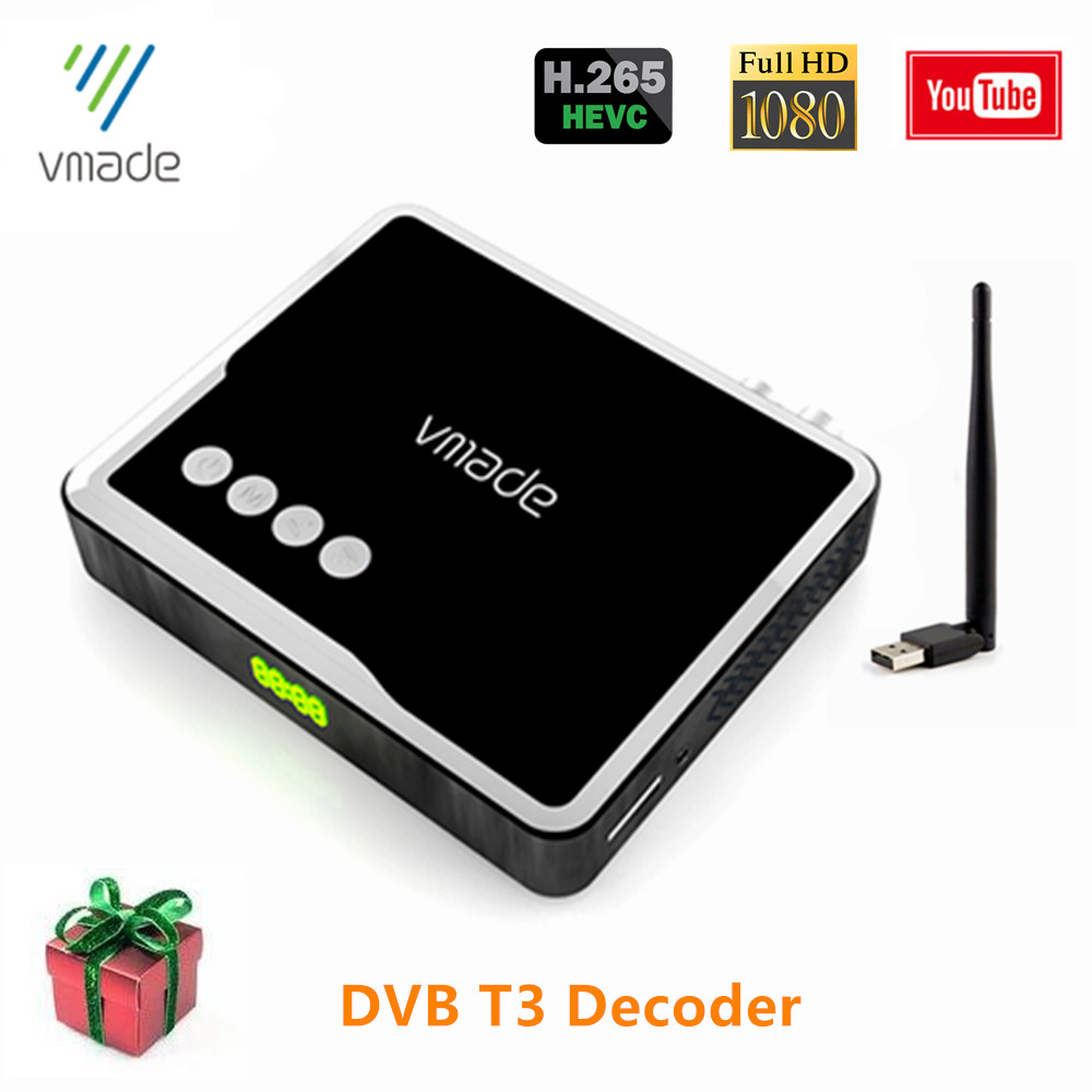 DVB T2 HEVC H.265 Digital Receiver Support YouTube Dvb-t2 Tv Tuner HD 1080p Support Dolby AC3 Set Top Boxes DVB T2 H.265 Decoder