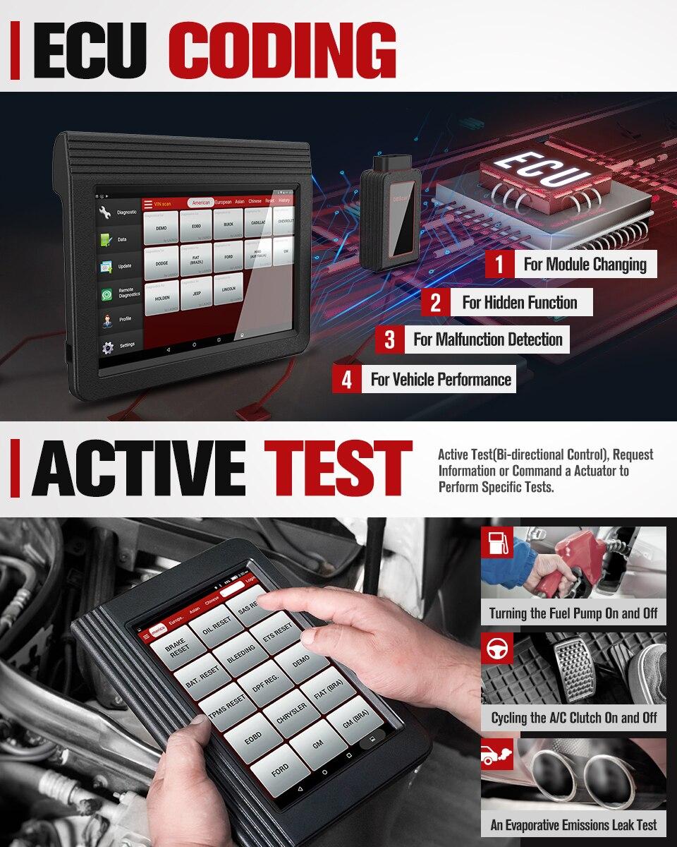 Image 2 - Launch X431 V+ Professional Car Diagnostic Tool OBD2 Car Scanner ECU Coding Active Test Auto Scan Tools PK X431 V PROEngine Analyzer   -