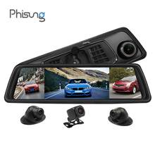 "Phisung V9 Plus Vier Lens Auto Dvr 4G Streaming Spiegel Adas 9.88 ""1080P Spiegel Camera Wifi Gps dash Cam 2G + 32G Auto Recorder(China)"