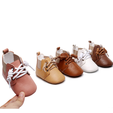 Toddler Shoes Boots Infant Baby-Girls First-Walker Newborn Boys PU Short Lace-Up British-Style