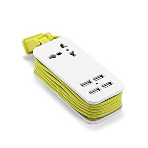 Image 3 - US Japan Plug 1.5m 5ft Power Extension USB Socket Portable Travel Adapter Power Strip With 2 USB Smart Phone Charger 220V to 5V