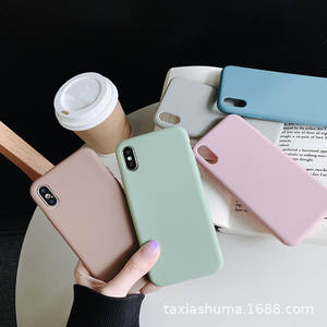 Simple Hipster Solid Color Apple Xs MAX Phone Case IPhone78 Plus6s Applicable XR Thick Material