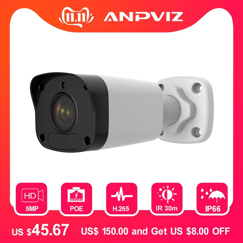 5mp poe câmera ip ao ar livre lente fixa cctv câmera de vigilância de vídeo mini bala 30m ir 3-axis ajuste ultra 265 onvif