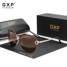 Gxp óculos femininos retro gradiente hd & 100% polarizado uv400 lente redonda óculos de sol borboleta óculos de sol confortável leve