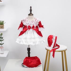 Детские весенние платья для девочек 2020 года, Детские Красные кружевные бальные платья на день рождения, детское платье для крещения, Lotia, ком...