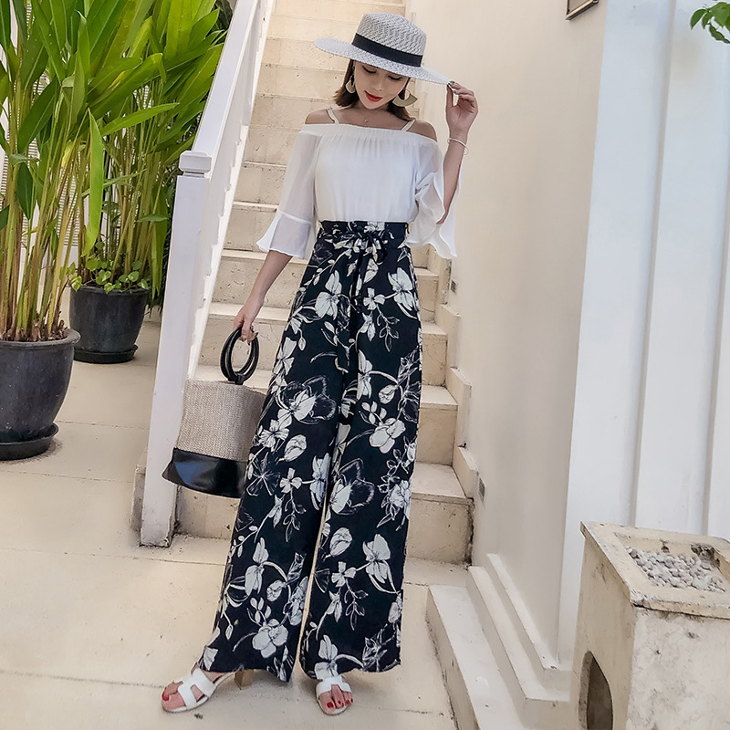 Photo Shoot Holiday Thailand WOMEN'S Pants Large Size Bohemian Loose Pants Seaside Beach Shorts Trousers Lv You Zhuang