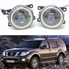 цена на For Nissan Navara D40 Pickup 2005-2015 Car styling New Led Fog Lights 30W DRL Angel Eyes Fog Lamp 2pcs