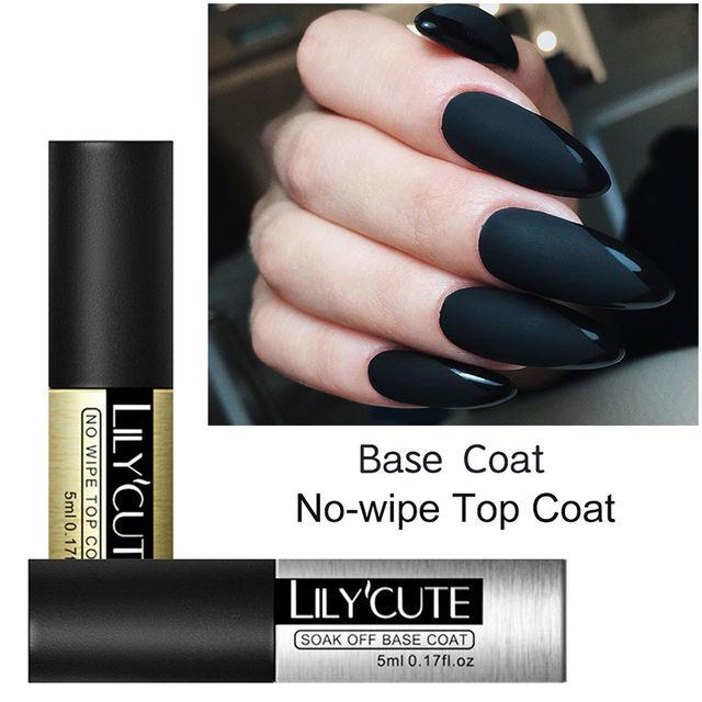 LILYCUTE Top Base Coat Soak Off Gel