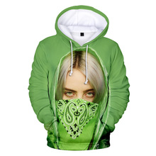 Newest Autumn Winter Billie Eilish Hoodie Print Hooded Women/Men Sweatshirt Clothes Harajuku Casual Hot Sale Hoodies Kpop Jacket