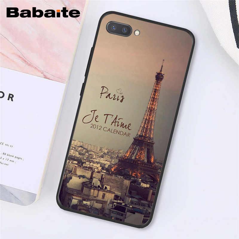 Babaite الحب لندن باريس برج ايفل فرنسا الهاتف حافظة لهاتف huawei الشرف 8X9 10 20 لايت 7A 8A 5A 7C 10i 20i View20