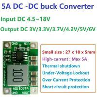 5A DC-DC Converter Step-Down Buck Module 4.5-18V to 3V 3.3V 3.7V 4.2V 5V 6V Voltage Regulator Power Battery Charger motor LED