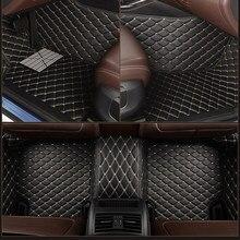 Couro personalizado 5 assento tapete do assoalho carro para mercedes E-CLASS w210 w212 w213 c207 c238 convertible a207 a238 t-modelo tapete