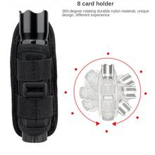 Tactical Flashlight Pouch Holster 360 Degree Rotatable Clip Torch Cover for Belt Flashlight Holder Hunting Accessories ultrafire nylon flashlight holster w belt clip black