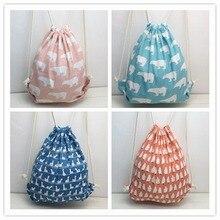 Animal print bouquet mouth cloth bag drawstring back beam wholesale Korean version of multi-color shoulder female