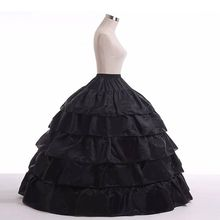 5 layer Lotus Leaf Skirt Bride Wedding Dress Petticoat Lolita Drawstring Adjustable High Waist Long Chemise N84D