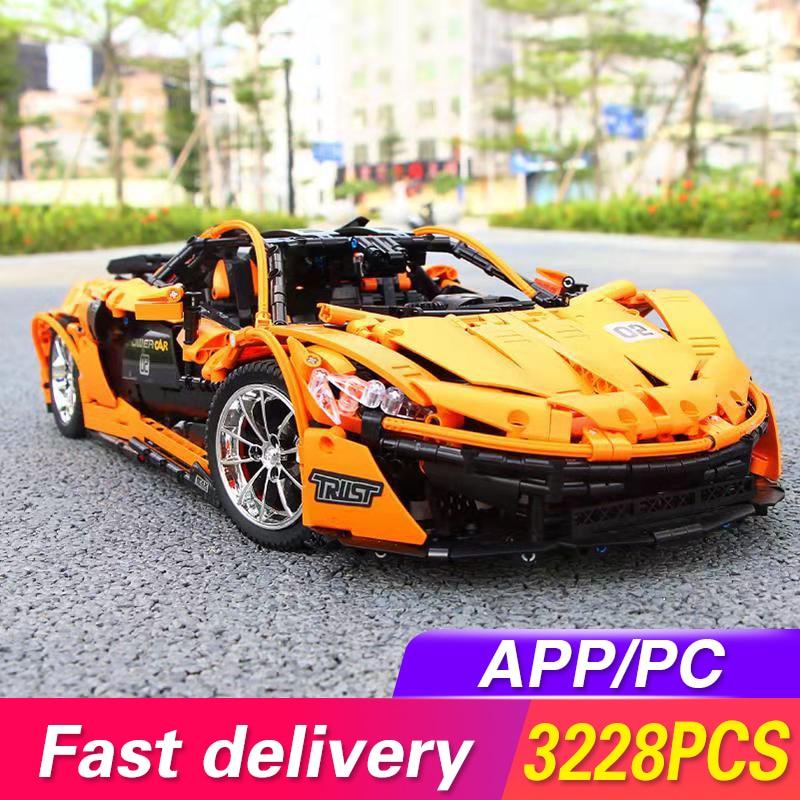 20087 Lepined Technic MOC-16915 Orange Super Racing Car McLaren P1 Model Kit Building Blocks Bricks Hypercar Set Kids Toys Gifts(China)