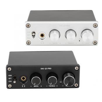 AC-Q3 PRO DAC Decoding Digital Audio Decoder Headphone Amplifier amp usb dac Decoded 24Bit 192kHz for 3.5MM Headphones DC5V1A 1