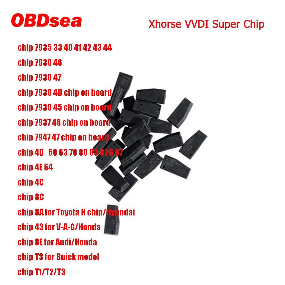 10 stücke Xhorse VVDI Super Chip XT27A01 XT27A66 XT27C75 Transponder für VVDI2 VVDI Mini Schlüssel Werkzeug