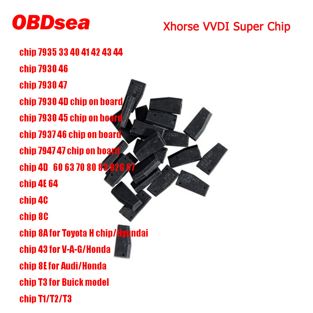 10pcs  Xhorse VVDI Super Chip XT27A01 XT27A66 XT27C75 Transponder For VVDI2 VVDI Mini Key Tool