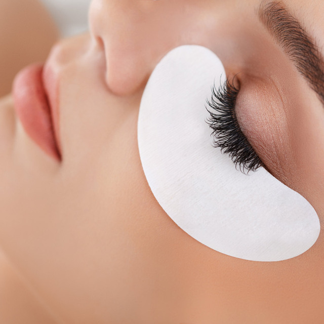 25/50/100 Pairs/Lot Patches for Eyelash Extension Under Eye Pads Paper Patches Pink Lint free Stickers for False Eyelashes 5
