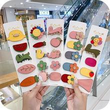 2019 nowych moda japonia Korea dziewczyna słodkie szpilki do włosów klips do włosów nakrycia głowy słodkie księżniczka Cartoon zwierząt BB dla dziecięce akcesoria do włosów tanie tanio CN (pochodzenie) Dziewczyny Other Spinki do włosów FX57-63 Trendy Women Show in Picture Party Birthday Gift Support 1 Pcs