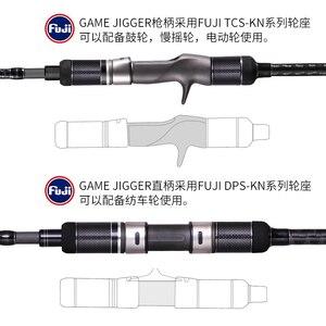 Image 3 - Madmouse japão fuji completo peças lenta jigging haste 1.98m pe 3 6 isca peso 150 400g 20kgs girando/fundição barco haste oceano