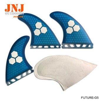 Free shipping blue fiberglass green future M G5 fins future surfboard fin Tri-set surf table future fins фото