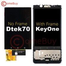 Dla BlackBerry DTEK70 KeyOne wyświetlacz LCD montaż digitizera ekranu dotykowego z ramką do BlackBerry KEYone wymiana ekranu LCD