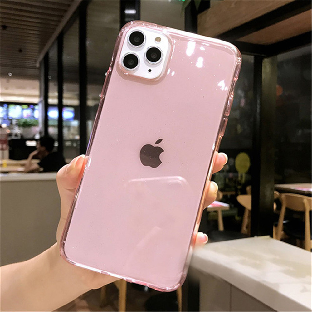 H40d3d22dec8543e09502388eca00cce93 - Moskado Bling Glitter Transparent Phone Cases For iPhone 11 11Pro Max X XR XS Max 7 8 6 6s Plus Clear Solid Soft TPU Back Cover