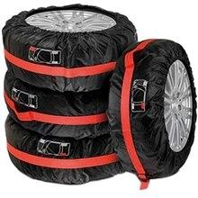 Сезонные Чехлы для шин набор из 4 запасных колесных сумок для хранения с ручкой для 19-23 дюймовых шин Защита дополнительных шин