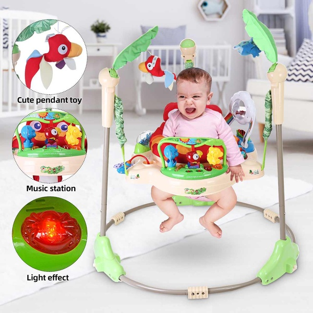 Multi-function Children Baby Bouncer Walker 6-24M Baby Gym Rack Cradle Baby Swing Rocking Chair for Newborm Baby Activity Gear 1