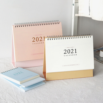2021 NEW Kawaii 3 Size Solid Color Calendar Coil Calendars Schedule Creative Desk Table Dates Reminder Timetable Planner sl2563 1