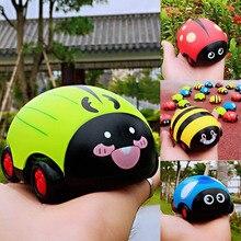 Горячая мультфильм насекомых вытягивать назад автомобиль игрушка инерции устойчивый к падению мин игрушка автомобиль для детей HV99