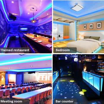 Bluetooth LED Strip Light 5050SMD LED Tape 220V 5M 10M Flexible Ribbon 110V DC 12V RGB Diode LED AC85-265V Music Decorative Lamp