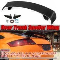 Carbon Fiber Look/Gloss Black Car Rear Trunk Boot Lip Spoiler Wing Big For Audi A3 S3 A4 S4 A5 S5 RS5 A6 S6 A7 A8 R8 TT TTS TTRS
