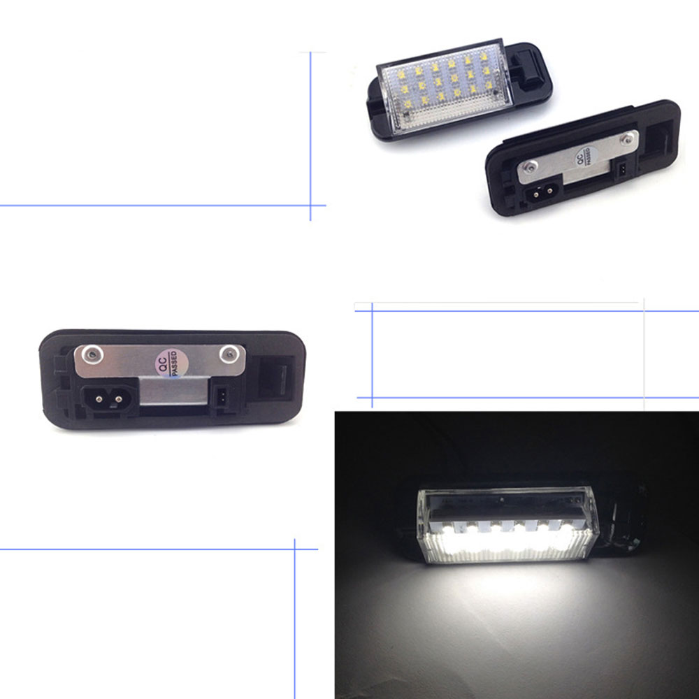 2pcs 12V Car <font><b>LED</b></font> License Plate Lights Car Tail Light Lamp For <font><b>BMW</b></font> <font><b>E36</b></font> 318i 320i M3 1992-1999 image