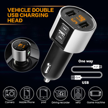 Dual USB Car FM Transmittor Mobile Phone Charger Car Cigarette Lighter Dual USB Charger bluetooth FM MP3 Player Transmitter bluetooth car kit hands free phone call talking fm transmitter cigarette lighter plug a2dp mp3 playback