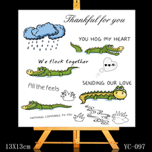ZhuoAng Dear crocodile friend Clear Stamps/Card Making Holiday decorations For  scrapbooking Transparent stamps 13*13cm