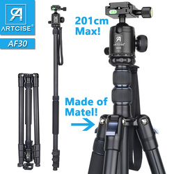 Aluminum Alloy Tripod 201cm/79in Max Height Professional High Tripod Monopod Stand For DSLR Camera Fast Flip Lock CNC Ball Head