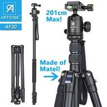 Tripé alto profissional 201cm 79in altura máxima monopé suporte para câmera dslr rápido flip lock cnc 36mm grande bola cabeça metal corpo