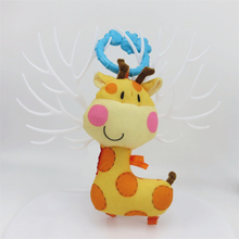 Giraffe Baby Mobiles-Toys Handbell Jingle Teeth-Biting Educational Birthday Cartoon Silicone